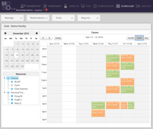 Class calendars can be synched to a Google calendar