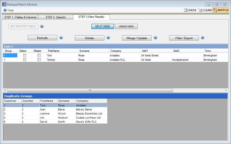 WinPure Email Verifier Pro deduplication