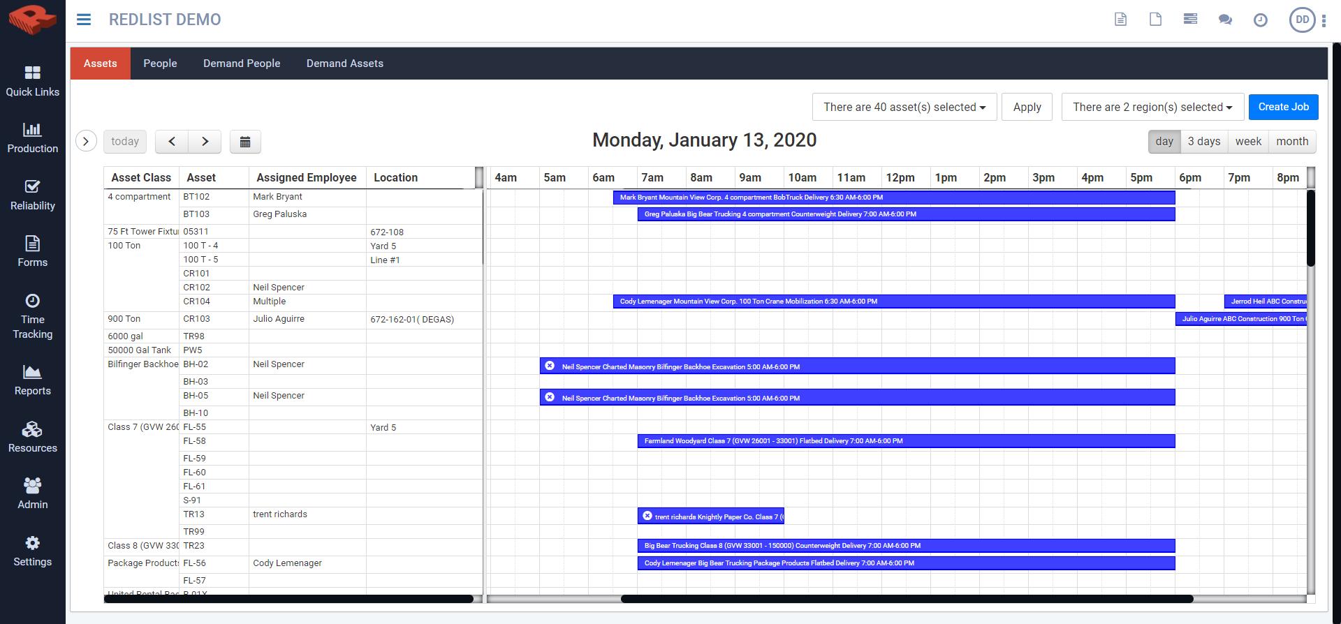 Production calendar - web