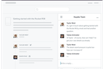 Kayako screenshot: Teams and customers can pick up the conversation via the website and across channels, real-time or not