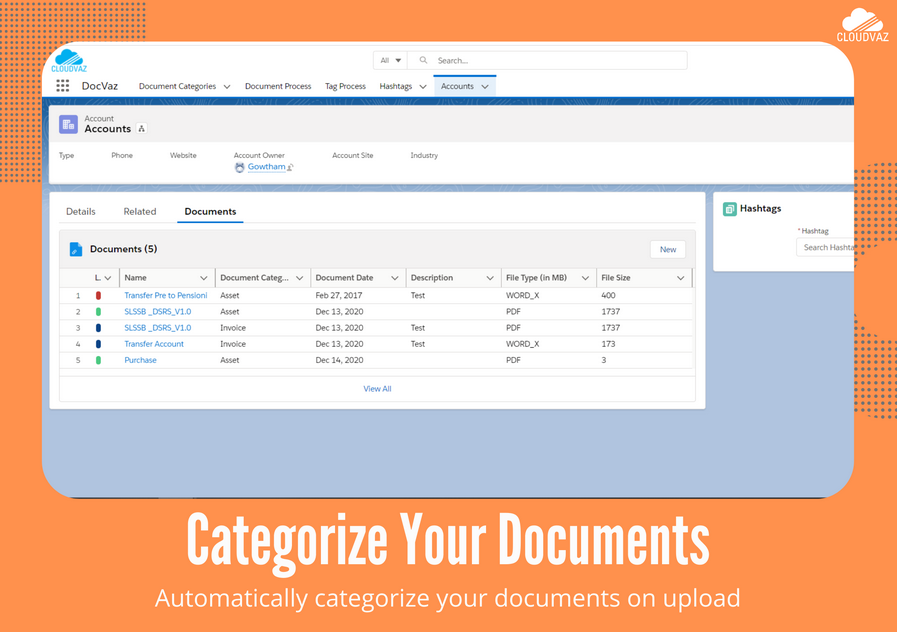 Categorize your documents