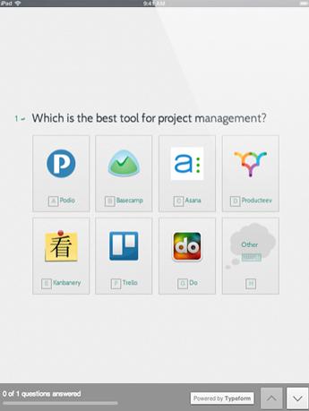 Typeform Software - Typeform select image question