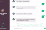 SurveySparrow screenshot: Chat-like survey