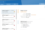 OmTrak screenshot: Project management tool displays project status