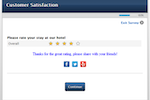 QuestionPro screenshot: Take the overall feedback of the survey post completion with QuestionPro