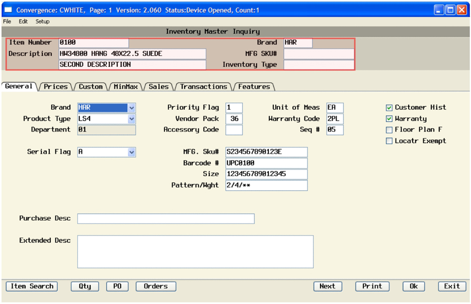 Tylernet Software - Inventory Management