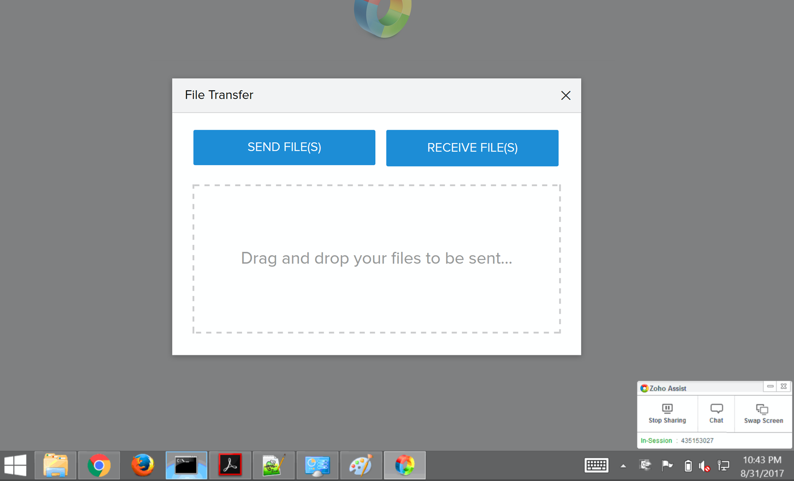 Transfer files instantly with in-built two-way file transfer
