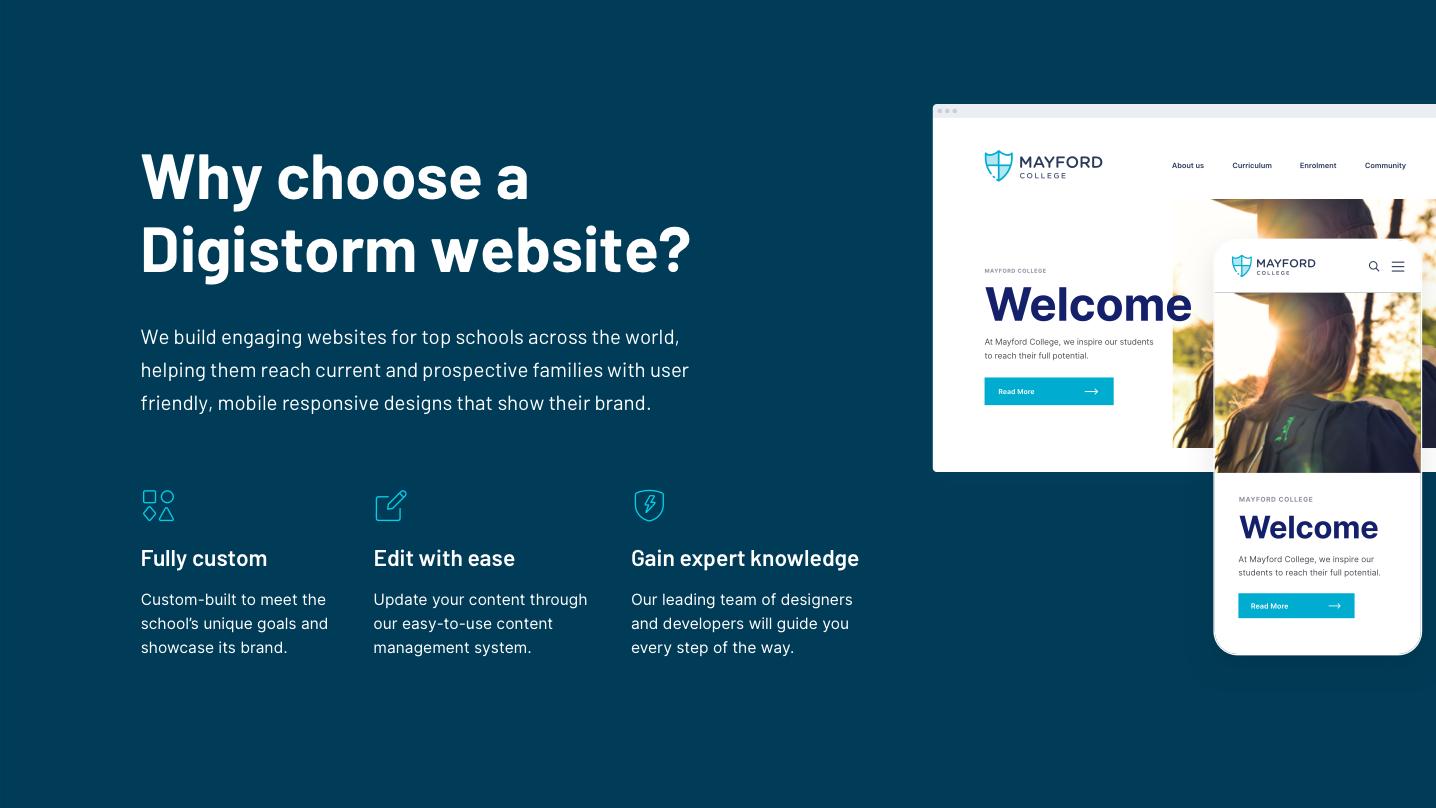 Digistorm Websites Software - Why choose a Digistorm website?