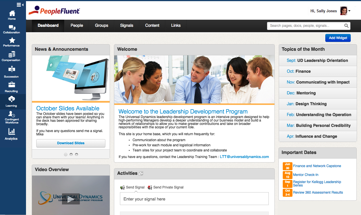 PeopleFluent Learning Software - Homepage