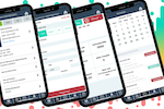 ServiceWorks screenshot: Run your business on the go. Track time, create jobs, schedule, dispatch, order parts receive them everything in one app.