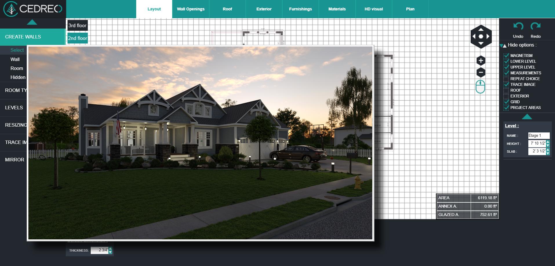 Cedreo Software - Cedreo 3D Exterior 2