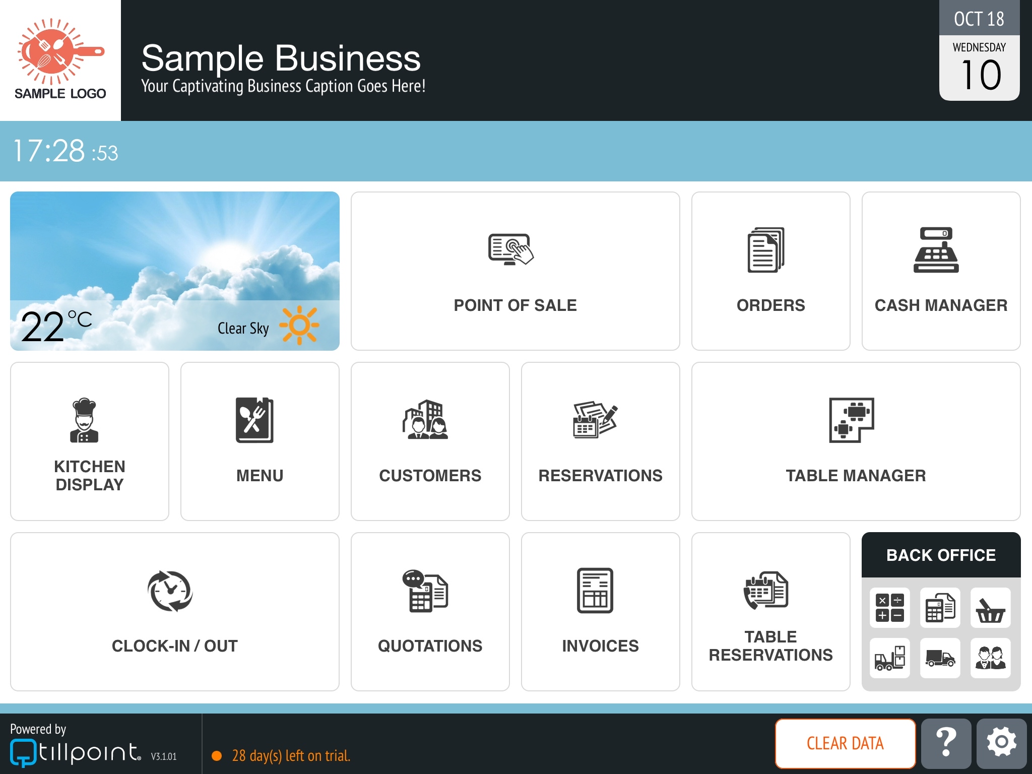 Homepage (Customisable)