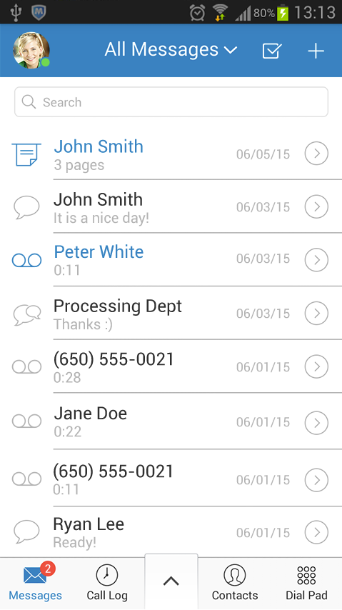 Users can set up message alerts and missed-call notifications