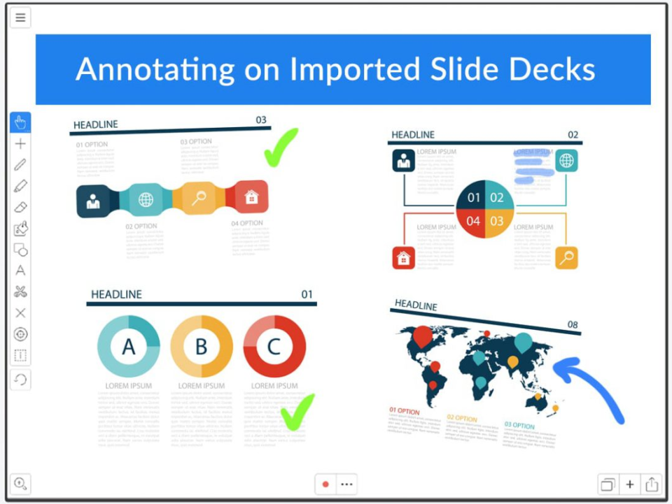 Explain Everything annotation within slide decks