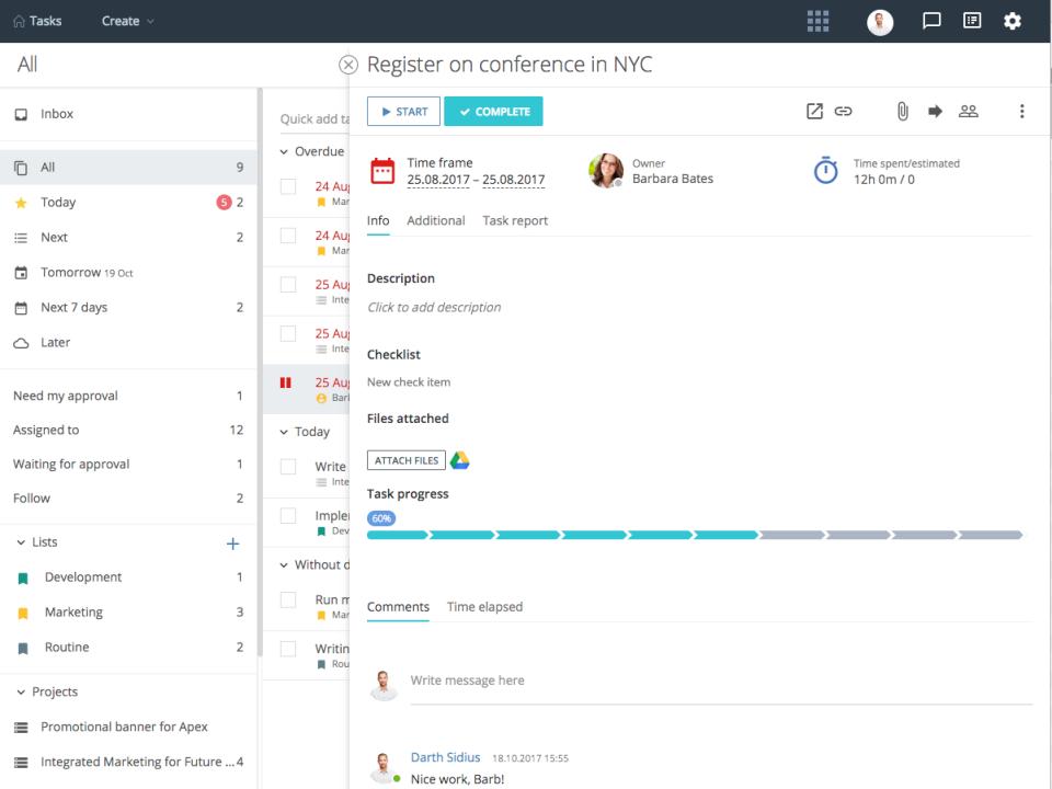 Flowlu Software - Flowlu Task management