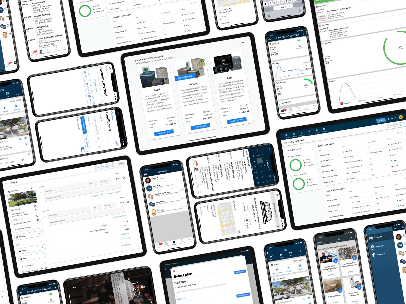 Web, Mobile, Tablet