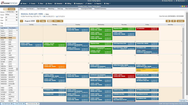 Schedule Center