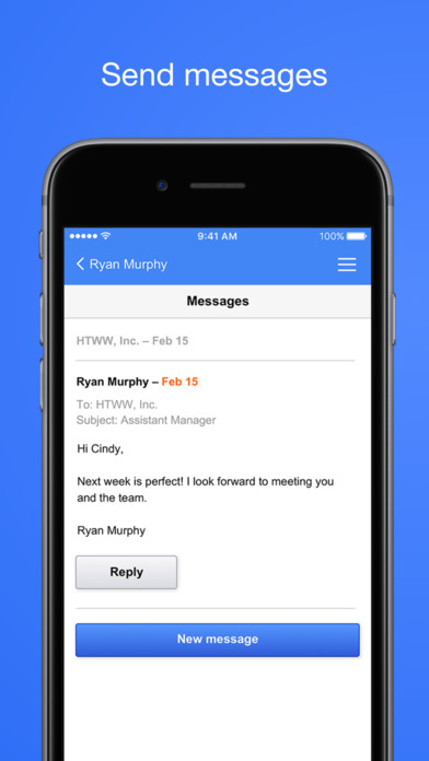 Send messages and manage all candidate communications in one place