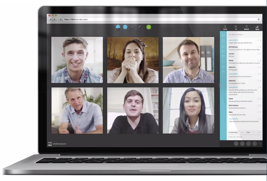 Invite up to 6 co-presenters to collaborate in a webinar