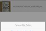 Procurify screenshot: Mobile Receiving Packing Slips