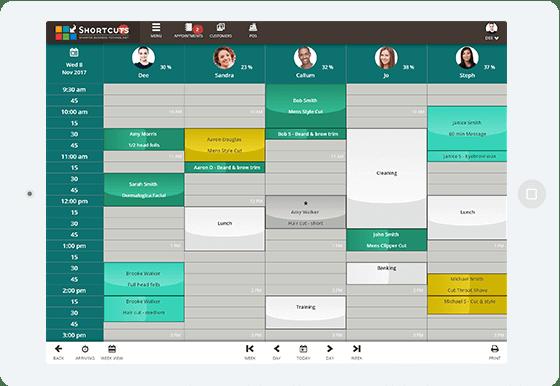 Employee task management interface