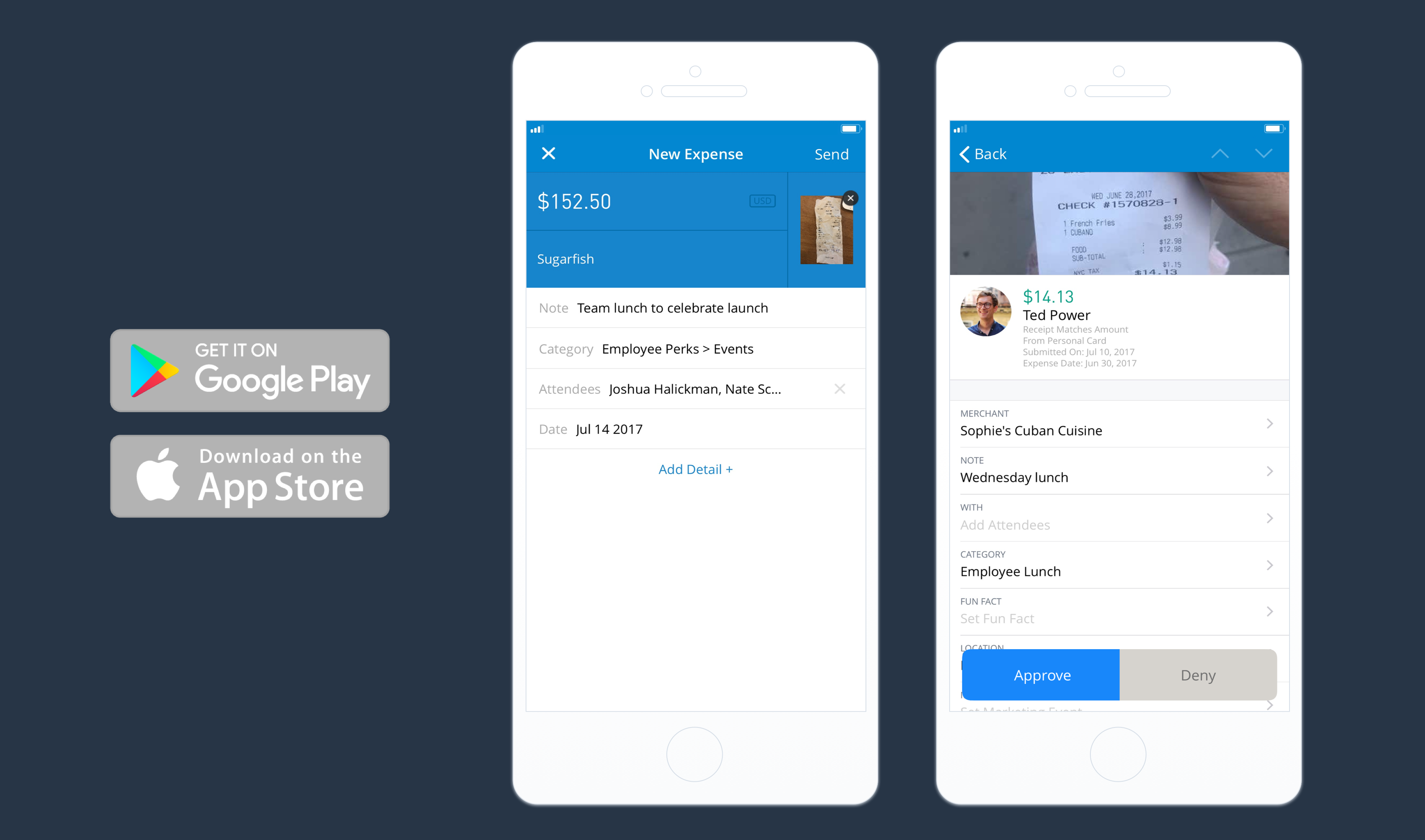 Submit expenses from anywhere, anytime with the Abacus mobile app for iOS and Android.