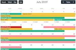 Lumeer Screenshot: Lumeer calendar