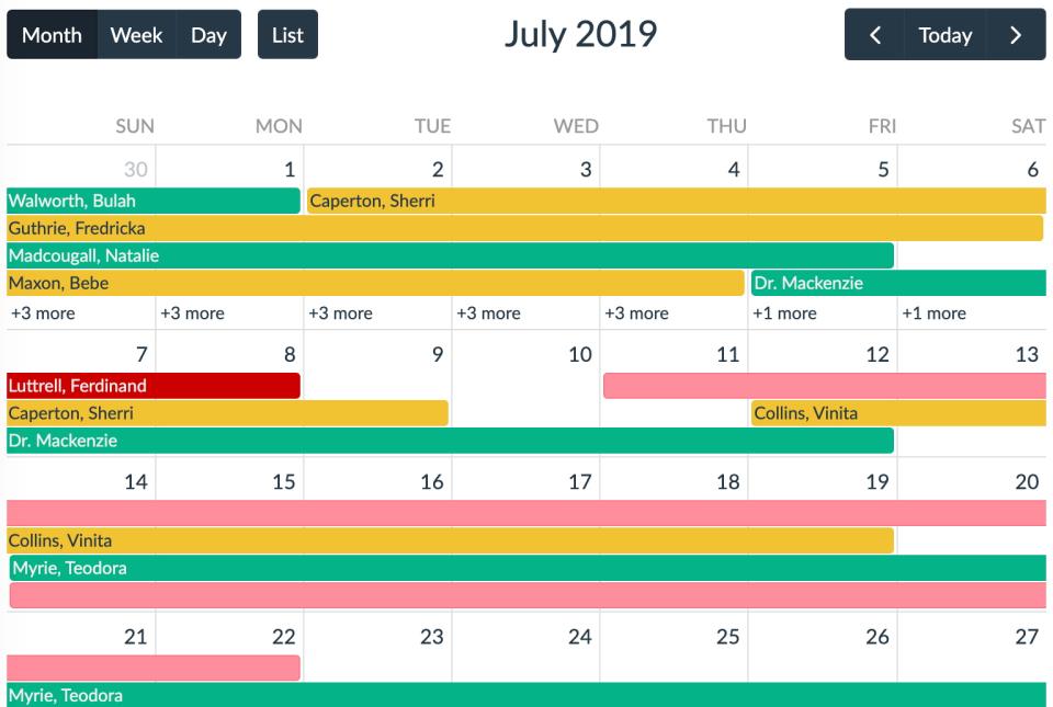 Lumeer calendar