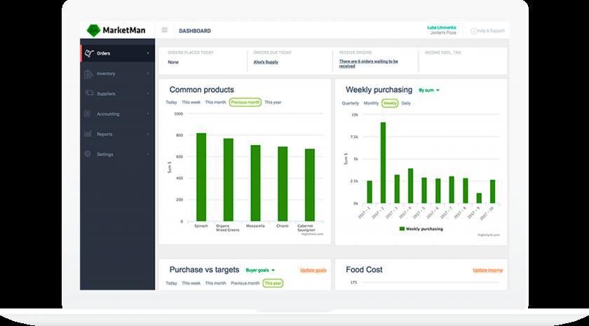 Marketman Software - MarketMan supplier management