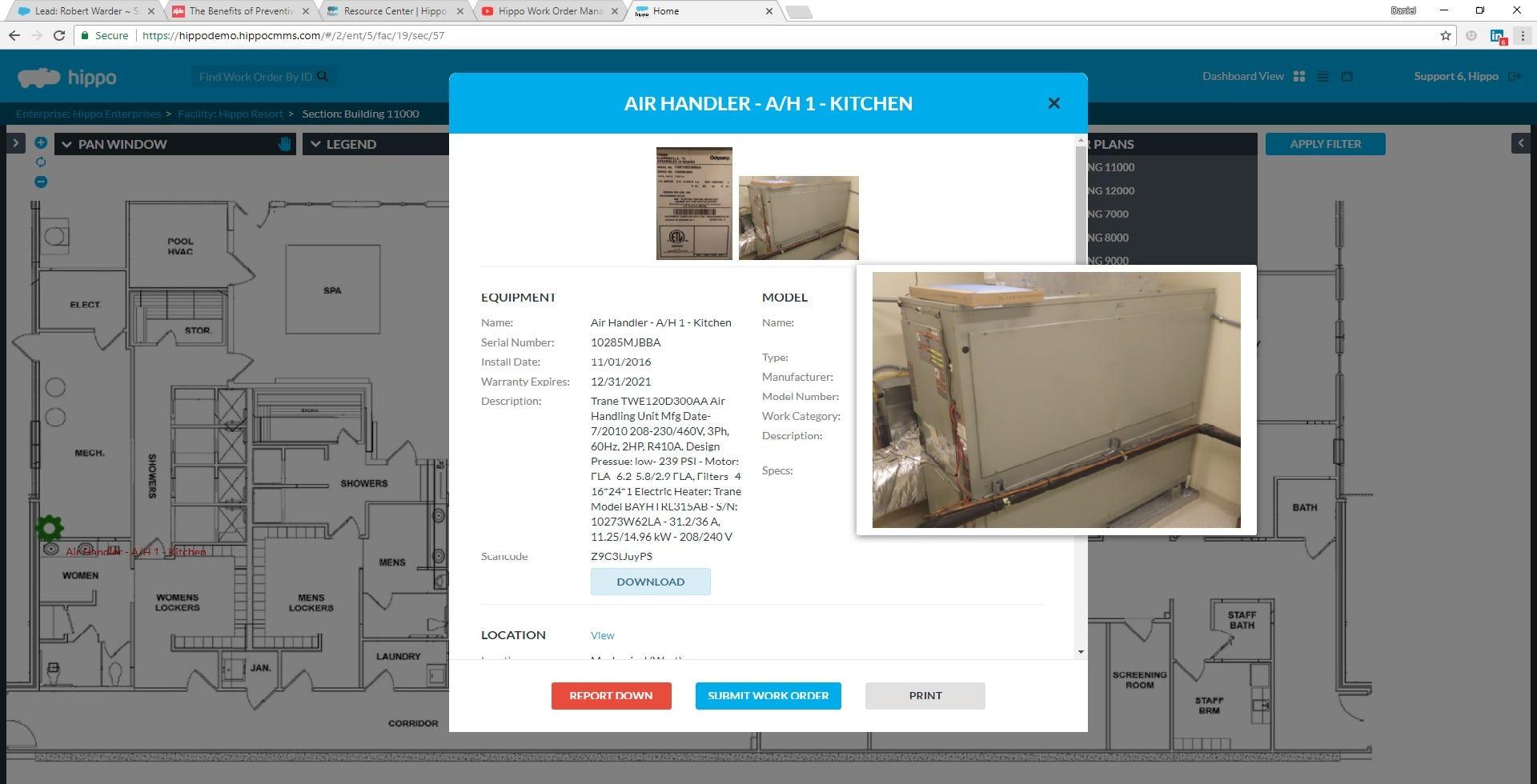 Hippo CMMS Software - Access Equipment Details