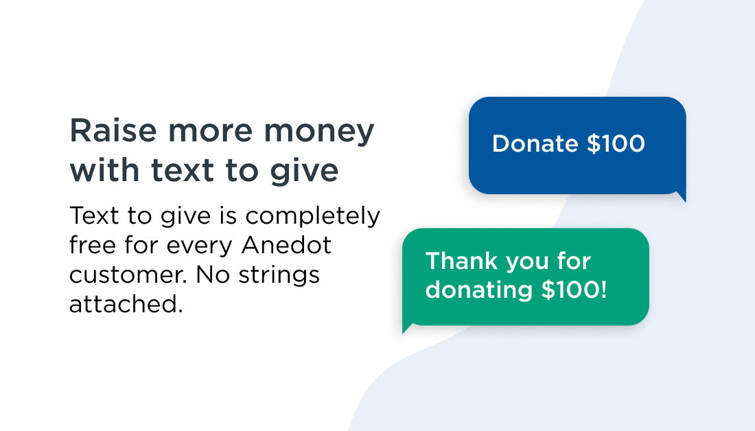 Raise more money with our free text to give tool