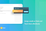 Hiver Screenshot: Assign Emails with Hiver