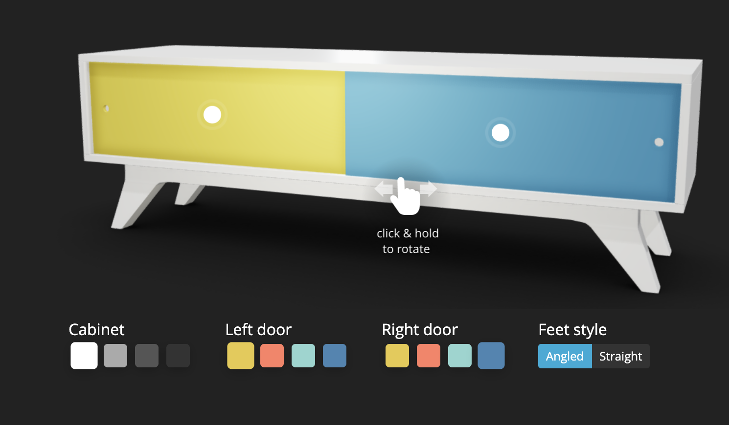 Sketchfab 3D furniture configurator