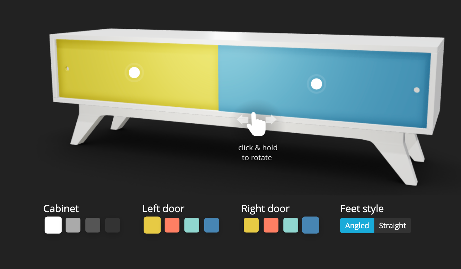 Sketchfab Software - Sketchfab 3D furniture configurator