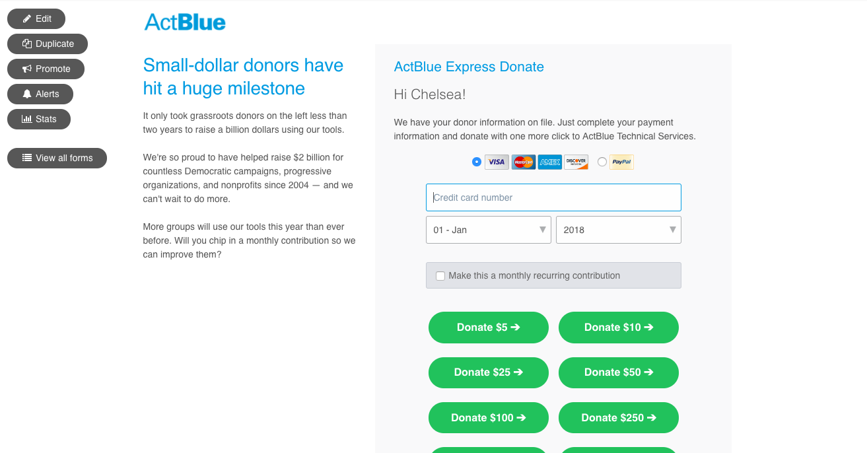 ActBlue Software - 2