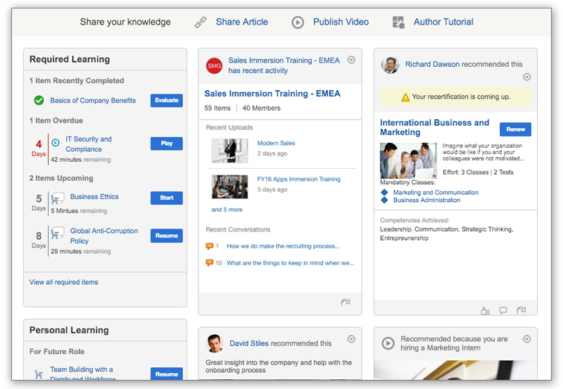 Personalize learning content to address multiple audiences