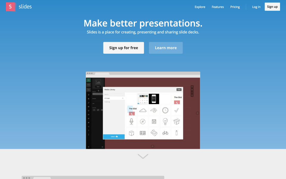 Slides Software - Homepage