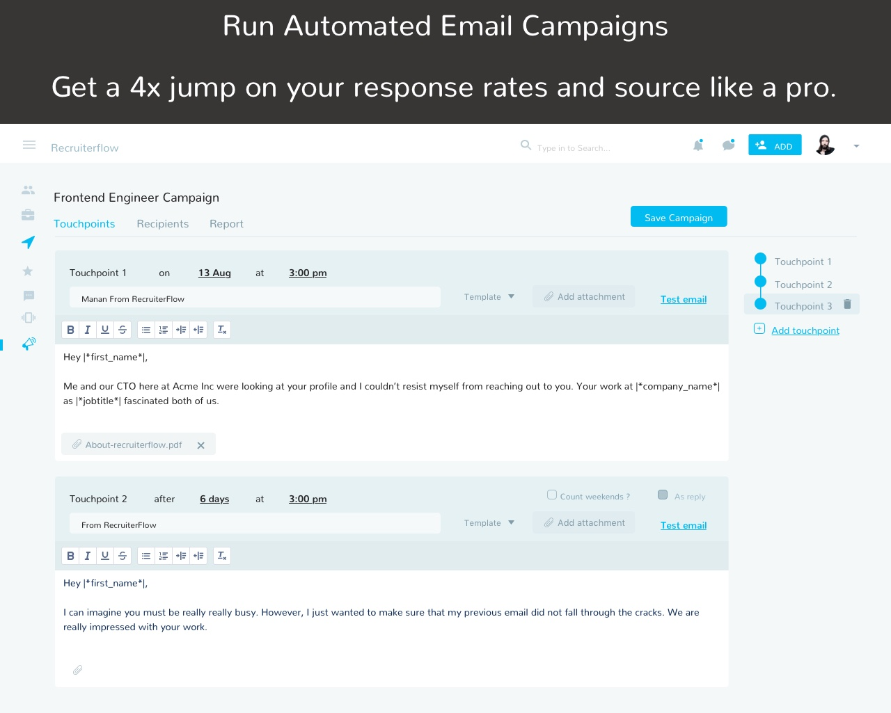 Run automated email sequences