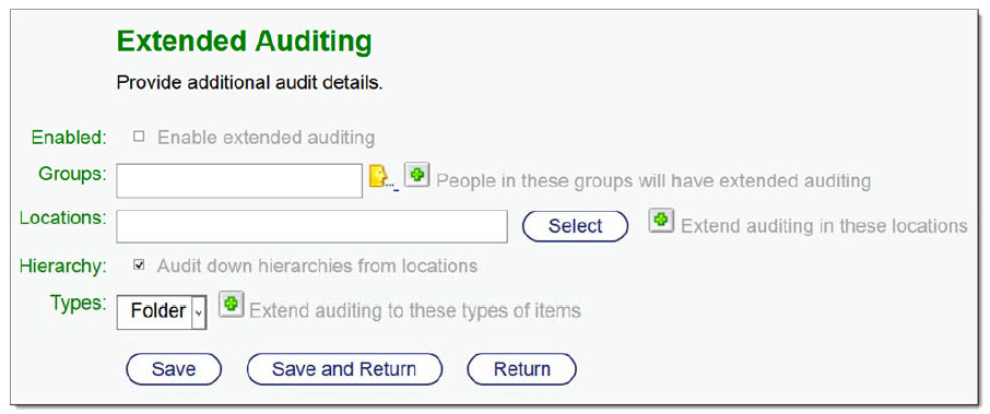 Content Suite Security and Productivity Pack extended Auditing