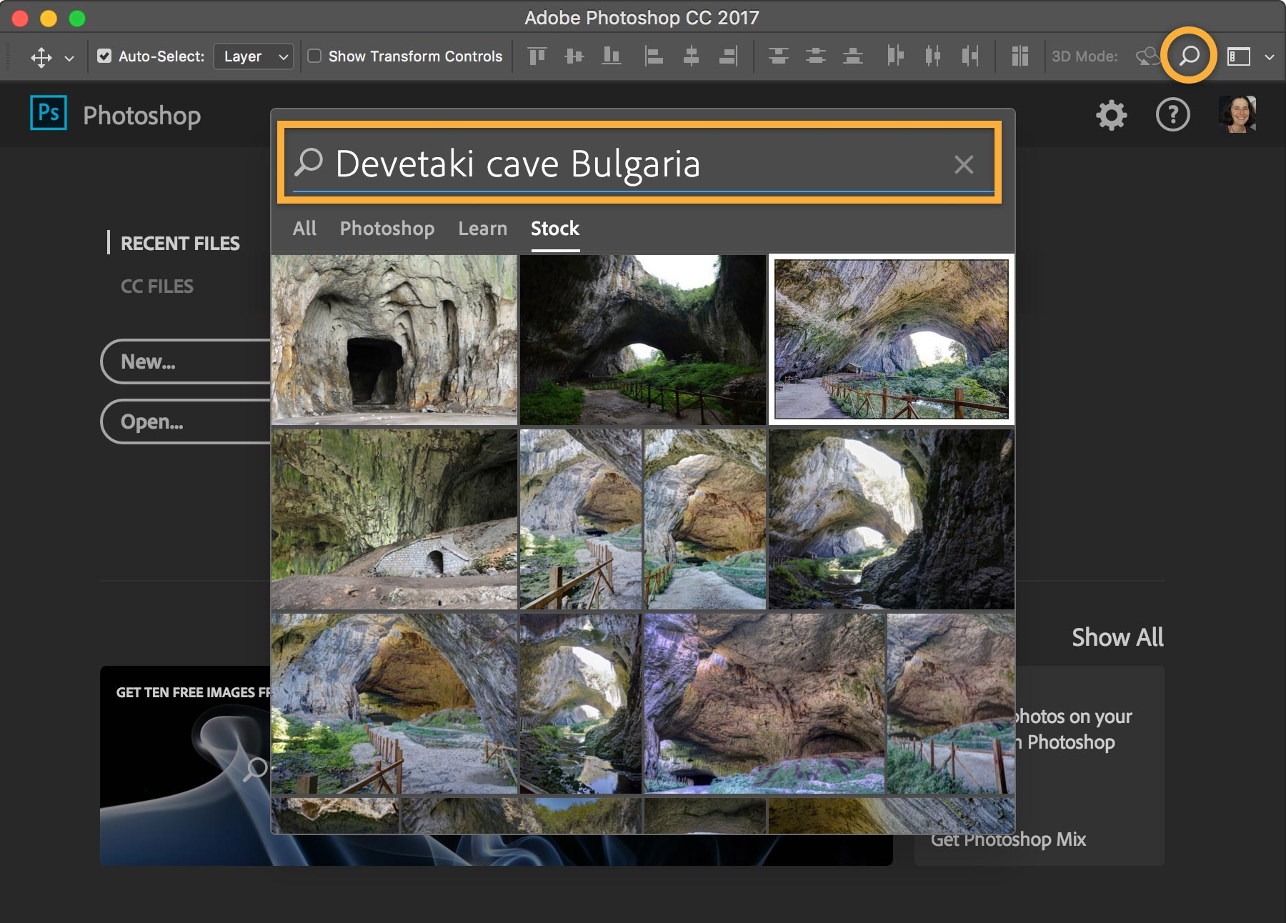 Adobe Photoshop digital stock