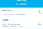 Xero Screenshot: Xero Timesheets, Payslips, and Leave