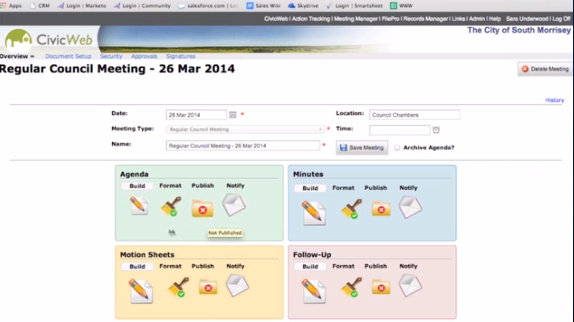 iCompass dashboard screenshot