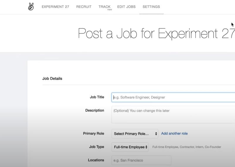 AngelList job posting