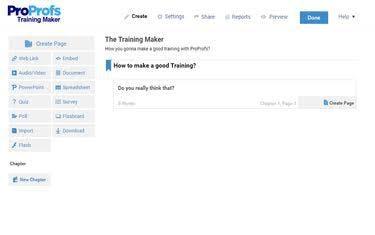 ProProfs Training Maker Software - Training maker