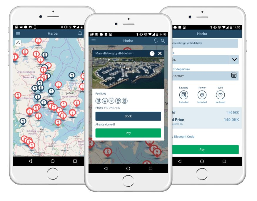 HarbaApp is a free mobile app for boaters that lets you book and pay for their berth or mooring easier than ever before. It is connected to the HarbaMaster marina management system.