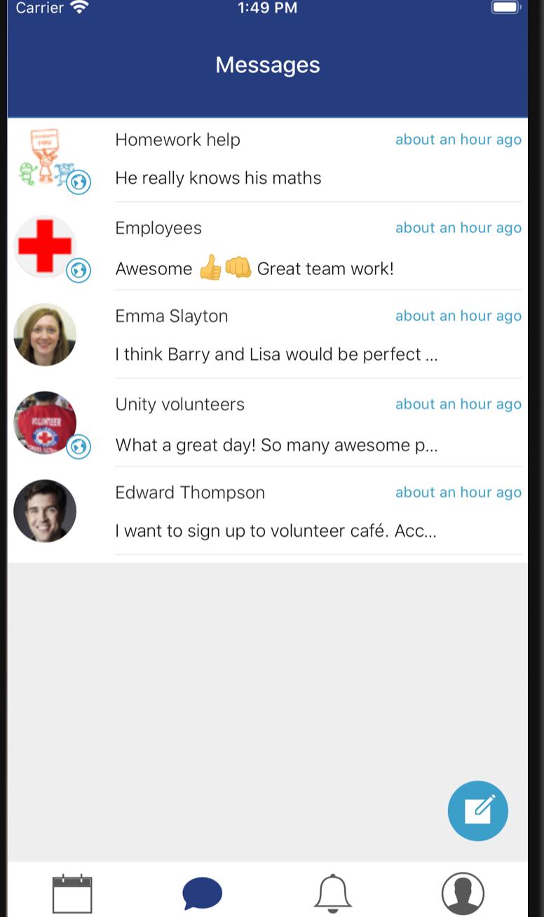 ViVil chat app overview