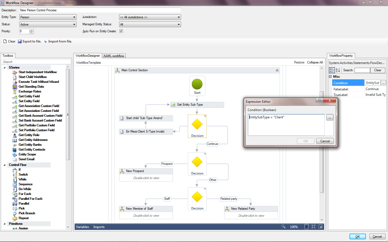 TrustQuay 5Series workflow creation