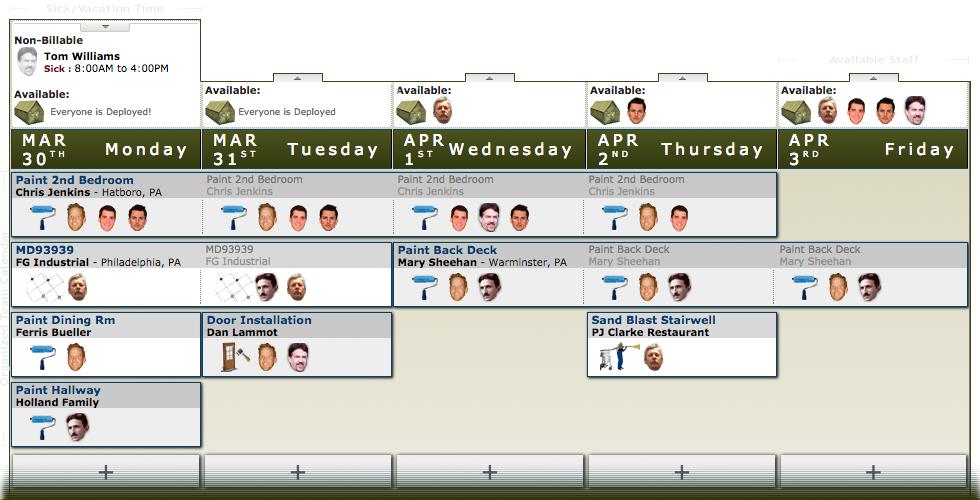 Sergeant Schedule Software - Availability schedule
