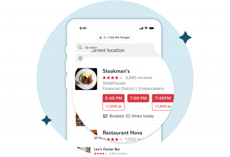 OpenTable - online reservations