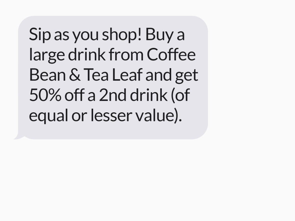 Custom messages can be sent to customers
